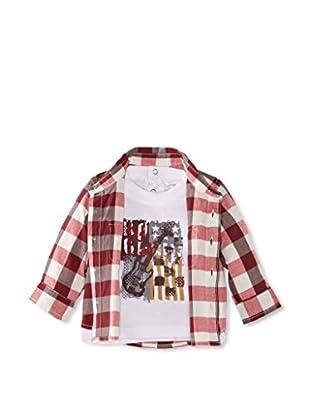 Pumpkin Patch Camisa Strea (Rojo / Gris)