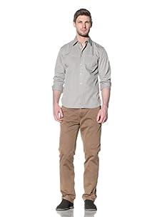 Just A Cheap Shirt Men's Cruz Button-Up Shirt (Light Olive)