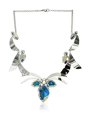 Crystal from Swarovski Gargantilla Azul / Plateado