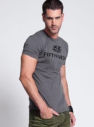 Diesel Camiseta Classic (Gris Oscuro)