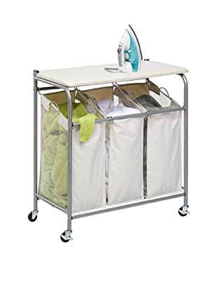 Honey-Can-Do Rolling Ironing and Sorter Combo Laundry Center