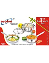 Evolve 4Pcs Stainless Steel Cookware Set