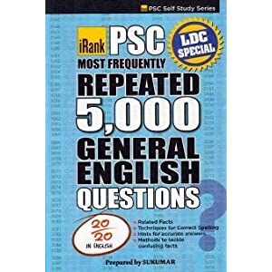PSC Most Frequently Repeated 5000 General English Questions - Sukumar