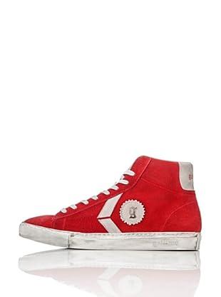 Galliano Zapatillas Alta Zip (Rojo)