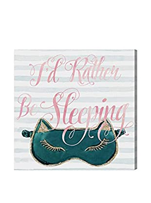 Oliver Gal I'd Rather Stay In Bed Canvas Art