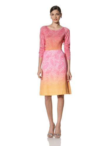 Jonathan Saunders Women's Lilium Long Sleeve Paisley Sweater (Pink/Orange)