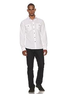 Dorsia Men's Kurt Slim Fit Shirt (White)