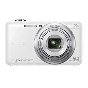 Sony Cyber-shot DSC-WX60/WC E32 16.2MP Point and Shoot Camera (White) with 8x Optical Zoom, Camera Case