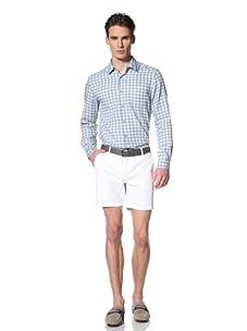 Brent Wilson The Basics Men's Tailored Short with Single Back Pocket Flap (White)