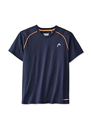 HEAD Men's Net Hypertek Crew Shirt (Navy Heather)