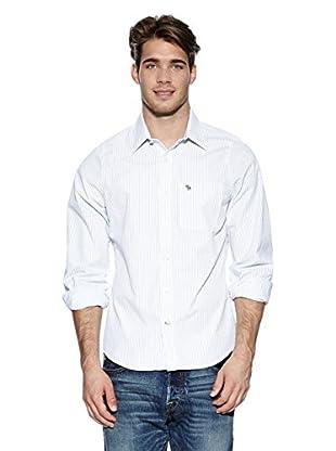Abercrombie & Fitch Hemd Classic (weiß / blau)