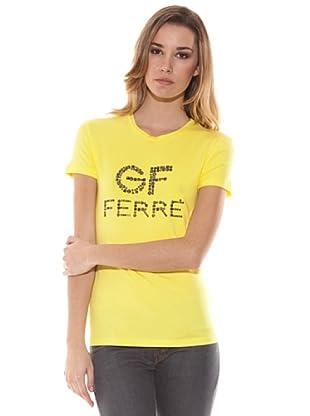 Gianfranco Ferré Camiseta Con Aplicaciones (Amarillo)