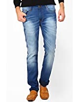 Solid Blue Slim Fit Jeans