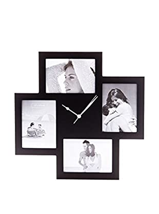 Tomasucci Reloj De Pared Collage 4F Negro