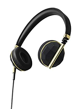 Caeden Linea Nº1 On-Ear Headphone, Faceted Carbon/Gold