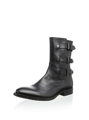Roberto Cavalli Men's Side Buckle Boot (Black)