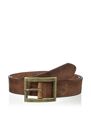 Maker & Company Men's Square Buckle Belt (Cognac)