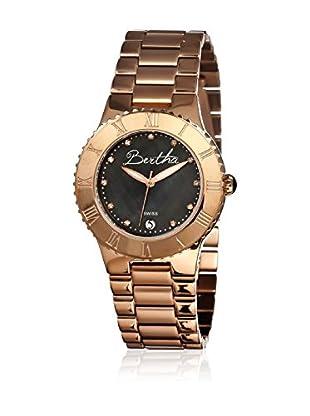 Bertha Uhr mit Schweizer Quarzuhrwerk Millicent goldfarben 40 mm