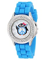 Frenzy Kids' FR795 Blue Rubber Band Penguin Children's Watch