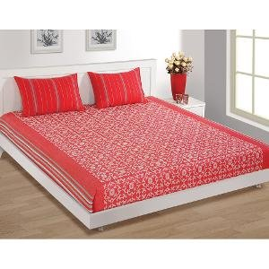 House This Bed Sheet With 2 Pillow Covers(BC-145A)