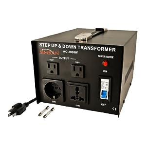 Simran AC-3000 Step Up/Down Voltage Converter Transformer 110V/220V - 3000 Watts