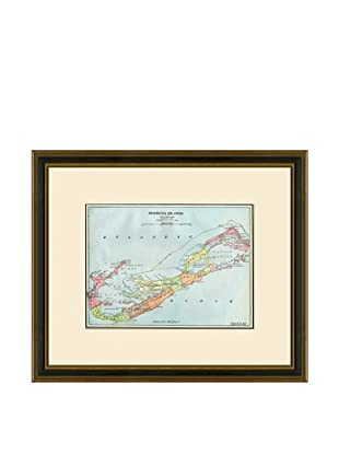 Antique Lithographic Map of Bermuda Islands, 1883-1903