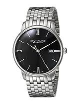 """Stuhrling Prestige Men's 307B.33111 """"Prestige"""" Ultra Slim Stainless Steel Bracelet Watch"""