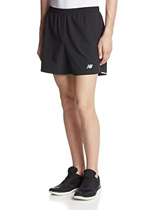 New Balance Men's 5-Inch Impact 2-in-1 Utility Run Shorts (Black)