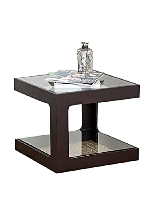 Abbyson Living King Cube Espresso End Table
