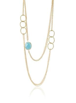 Rivka Friedman Caribbean Blue Quartzite Multi-Chain Necklace