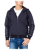 Campus Sutra Navy Blue Mens Jacket(AW15_JK_M_P2_BU_XL)