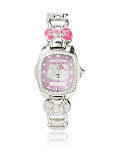 Hello Kitty Silver/Pink Stainless Steel Watch