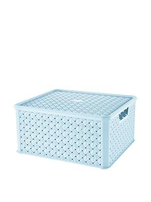 Tontarelli Caja Contenedor x 4 Arianna Grande 13L Cielo