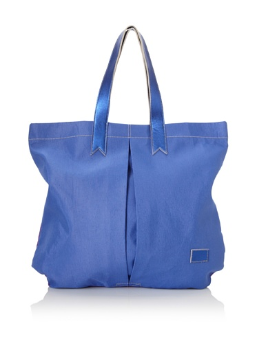 Meredith Wendell Women's Canvas Business + Party Mullet Tote (Cobalt/Purple)