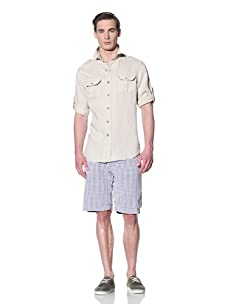 Tailor Vintage Men's Cargo Pocket Shirt (Natural)