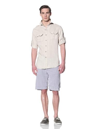 Tailor Vintage Men's Cargo Pocket Shirt (Natural)