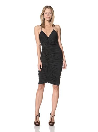 Halston Heritage Women's Ruched Dress (Black)
