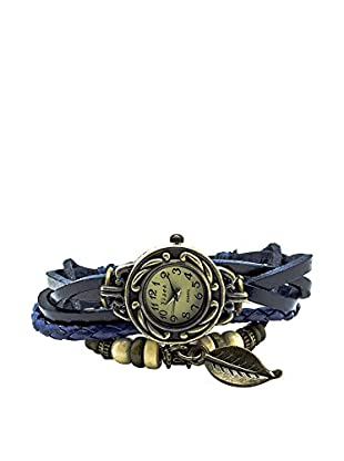 F&P Reloj Vintage Hoja Azul Reloj Vintage Hoja Azul Azul