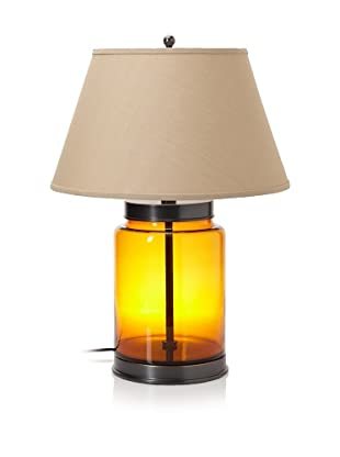 Lighting Enterprises Fillable Glass Container Table Lamp (Amber/Bronze)