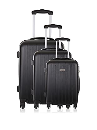 Travel ONE Set de 3 trolleys rígidos Korba Negro