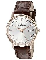 Claude Bernard Analogue Silver Dial Men's Watch - 53007 37R AIR