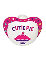 NUK Small Talk Big Button Pacifier in Assorted Colors and Patterns, 6-18 Months