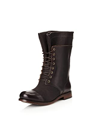 Timberland Women's Lucille Flat Mid Boot Lace Up (Black)