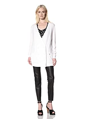 Pierre Balmain Women's Simple Classic Cardigan (White)