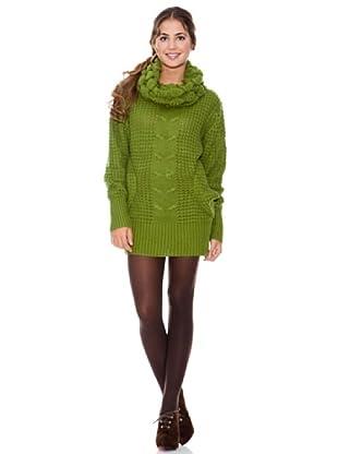 LAVAND Vestido Knit Céntrico (Verde)