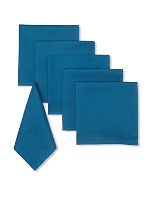 Garnier-Thiebaut Set of 6 Confetti Solid Napkins (Petrole)