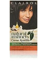 Clairol Natural Instincts Cream Keratina Hair Color 2 Espresso Creme Kit, Black