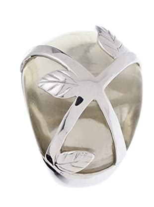 Luxenter 5847713 - Anillo Blomme de plata (blanco)