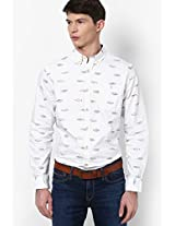 White Regular Fit Casual Shirt Tommy Hilfiger