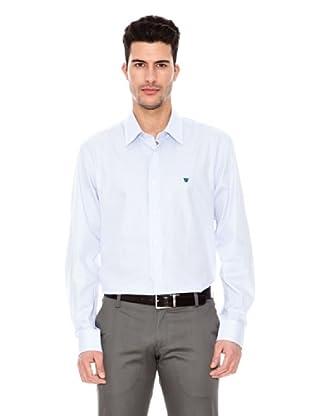 Caramelo Camisa Casual (Azul)